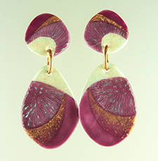 rose & gold porcelain earrings