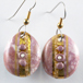 pink and gold earrings m43