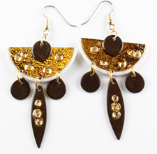 black and gold earrings w19